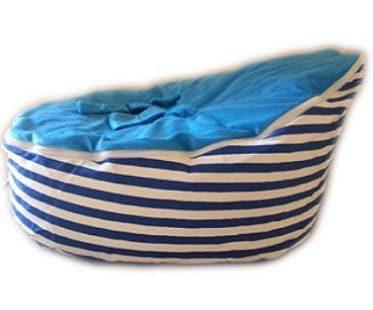 blue baby bean bag plain