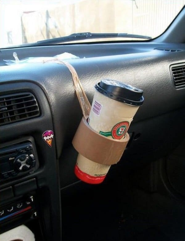 brown tape cup holder