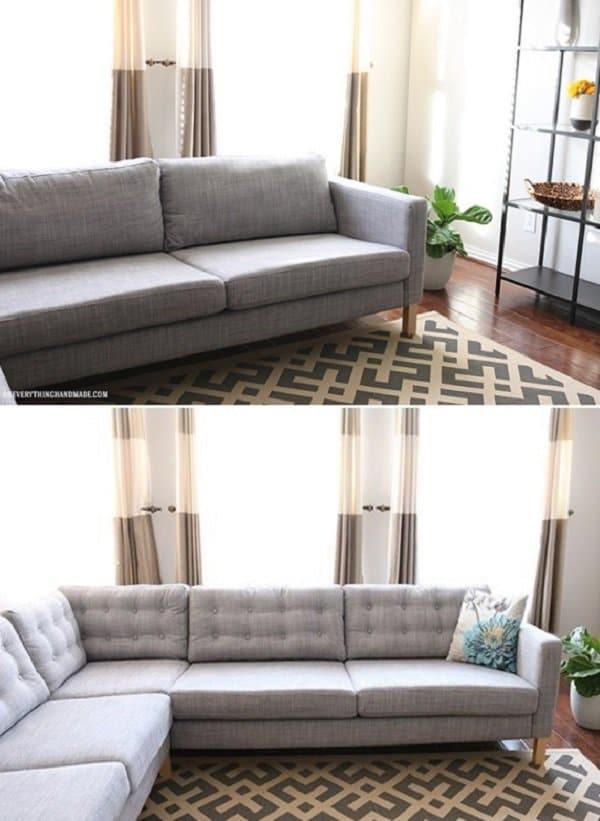 button sofa