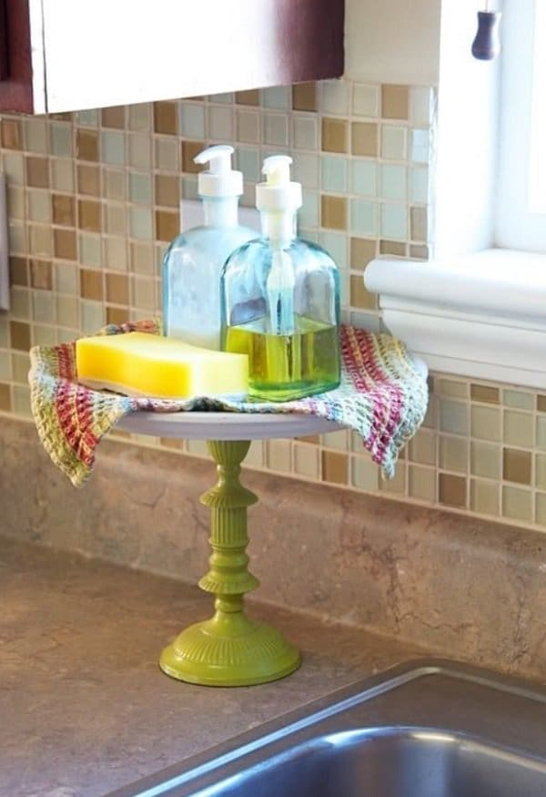 cake stand by your kitchen sink