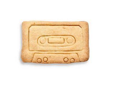 cassette tape cookie cutter cookie plain