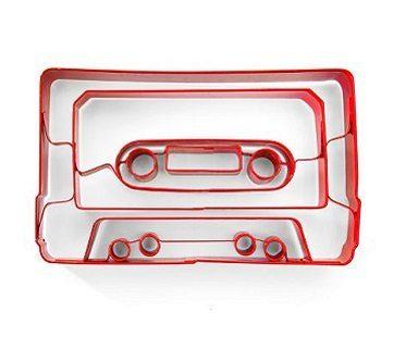 cassette tape cookie cutter plain