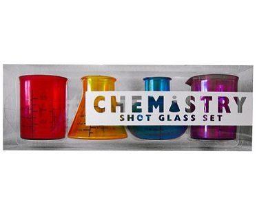 chemistry set shot glasses box