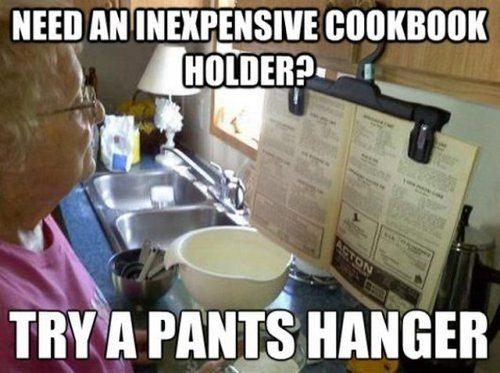 cook book hanger