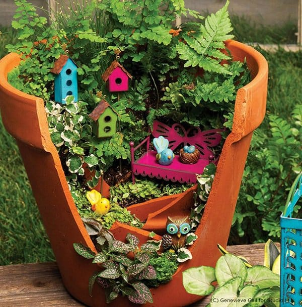 18 Beautiful Fairytale Garden Ideas: Turn Broken Pots Into Beautiful Fairy Gardens
