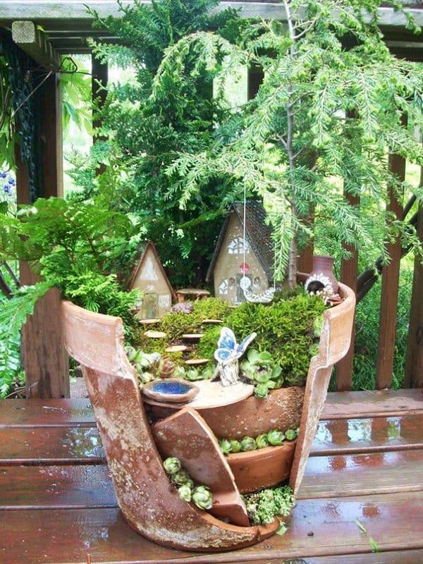 Turn Broken Pots Into Beautiful Fairy Gardens