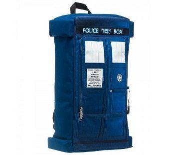 doctor who tardis backpack side