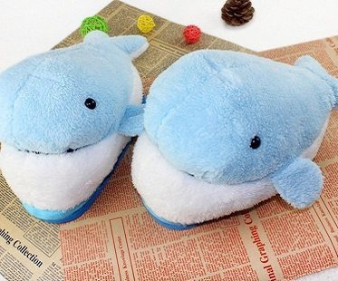 dolphin slippers pair