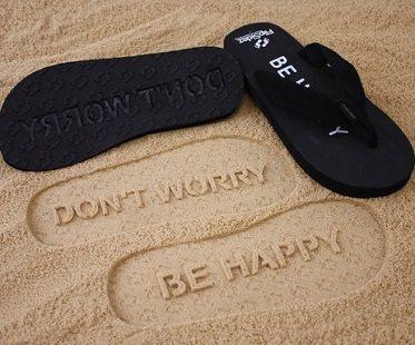 dont worry be happy flip flips black