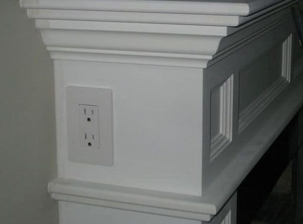 electric outlet on mantle