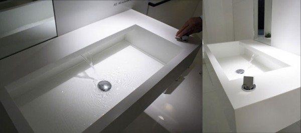 faucet less sink