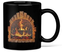 fireplace heat changing mug