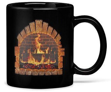 fireplace heat changing mug