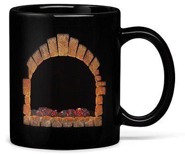 fireplace heat changing mug cold