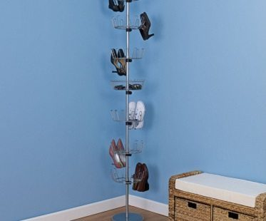 floor to ceiling shoe rack