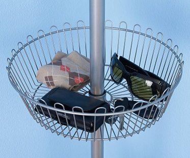 floor to ceiling shoe rack basket