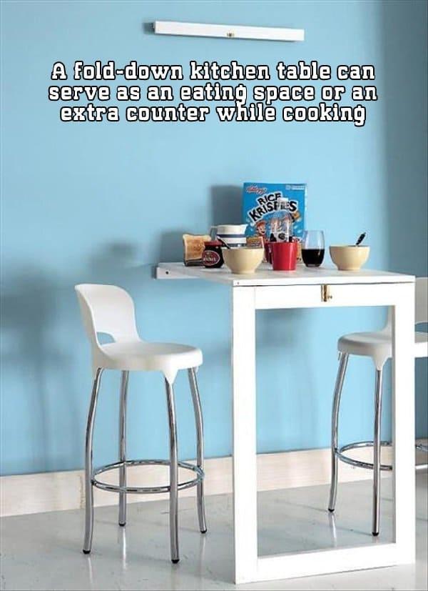 Build a Flip Down Kitchen Table