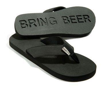 follow me bring beer flip flops tops