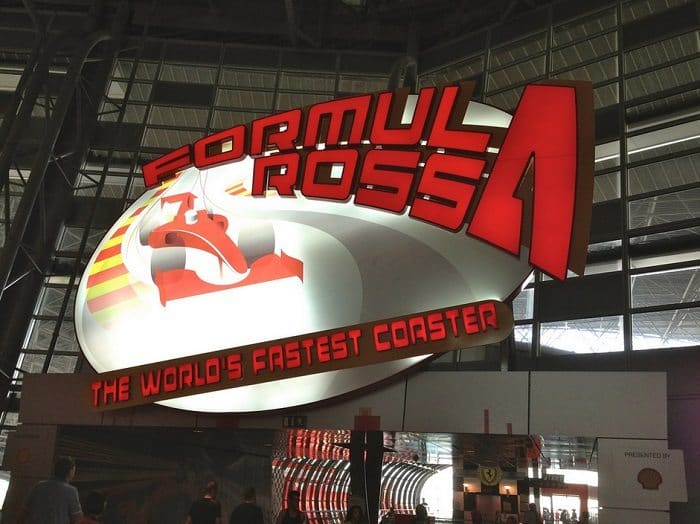 formula rossa sign