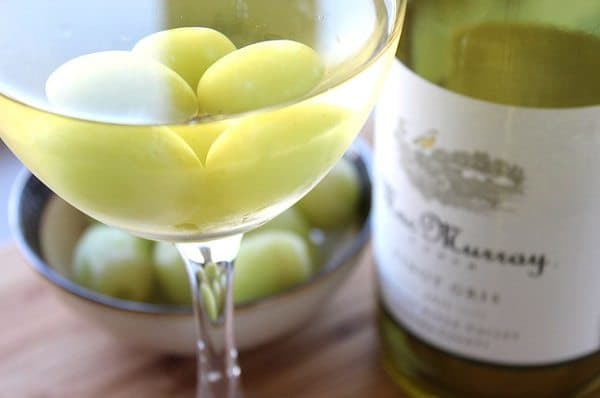 frozen grapes wine