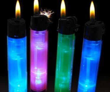 glow in the dark lighter colors