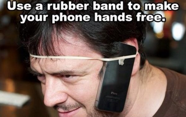 hands free phone rubber band