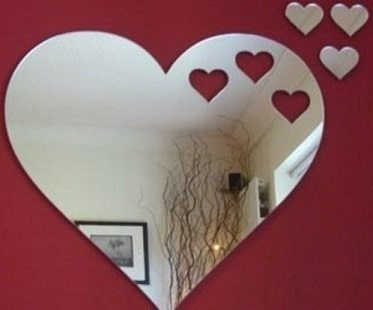 hearts mirror living room