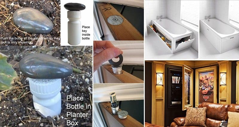 16 Secret Hiding Places For Your Valuables