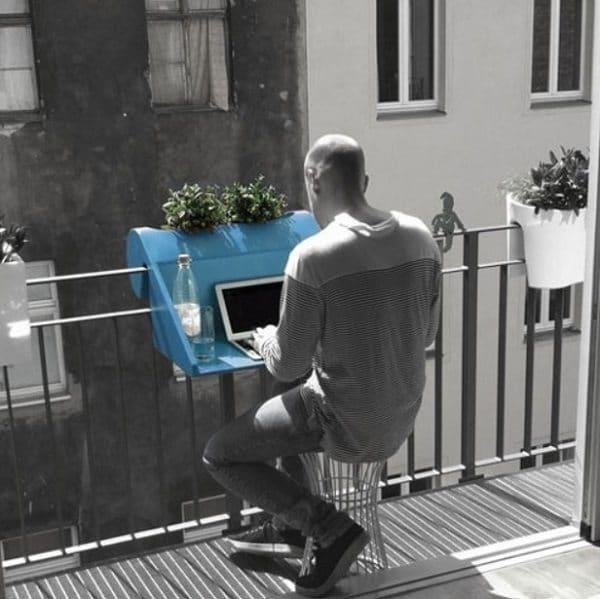 hook-on balcony desk
