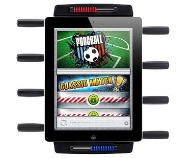 iPad Foosball Table top
