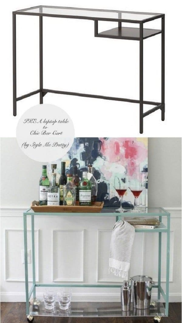 laptop table into bar trolley