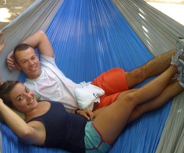 large portable hammock couple