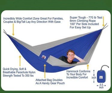 large portable hammock description