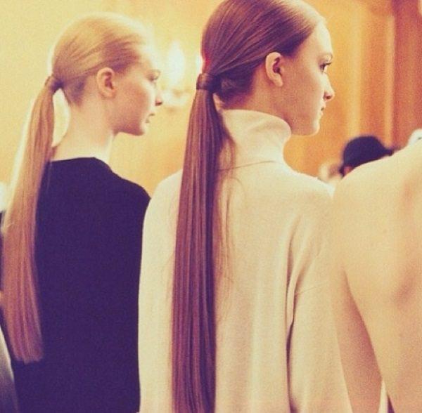 loose ponytails