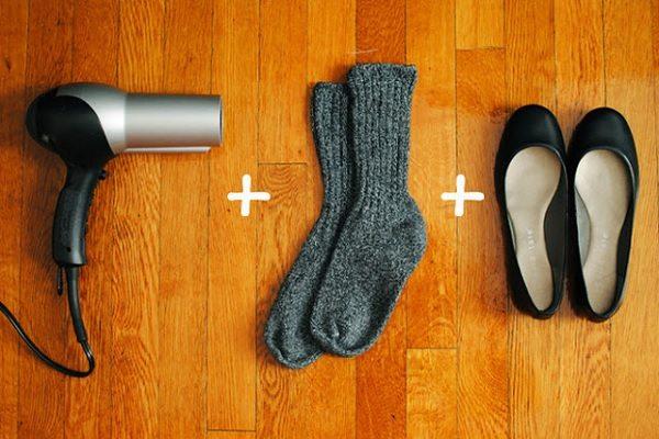 loosen tight shoes