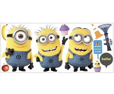 minion wall decals despicable me