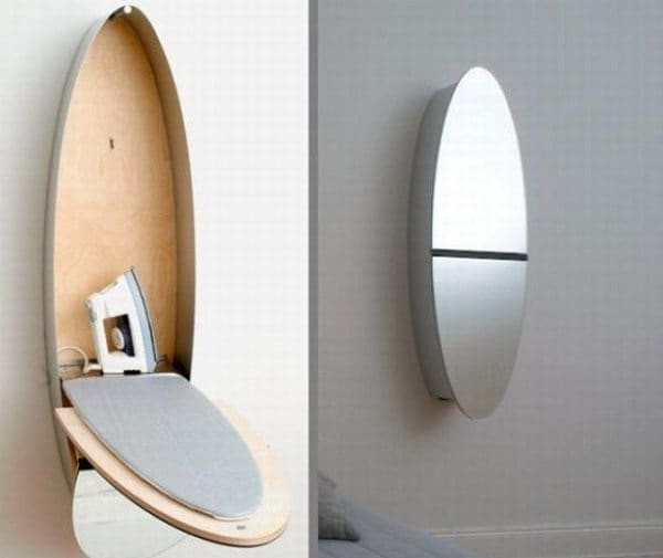 mirror and ironing board