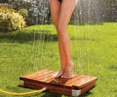 outdoor shower fountain