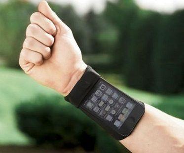 phone wrist wallet black