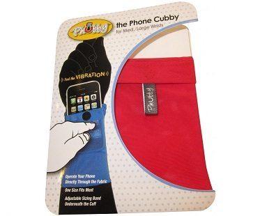 phone wrist wallet red