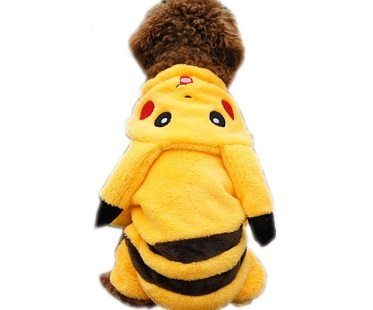 pikachu pet costume back