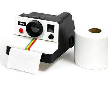 polaroid shaped toilet roll holder