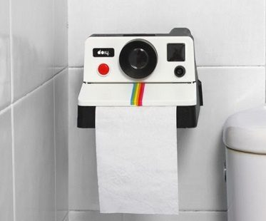 polaroid toilet roll holder