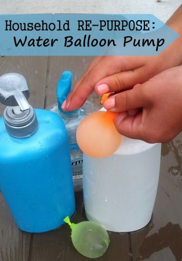 pump dispenser water baloons