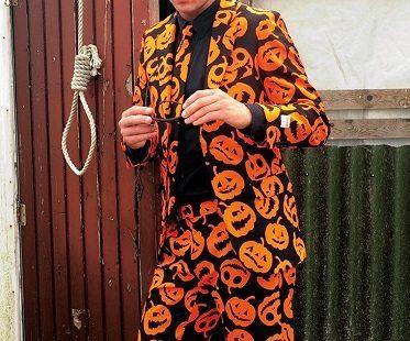 pumpkin suit shades