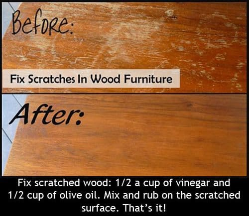 repair wood scratches
