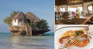 restaurant on a rock
