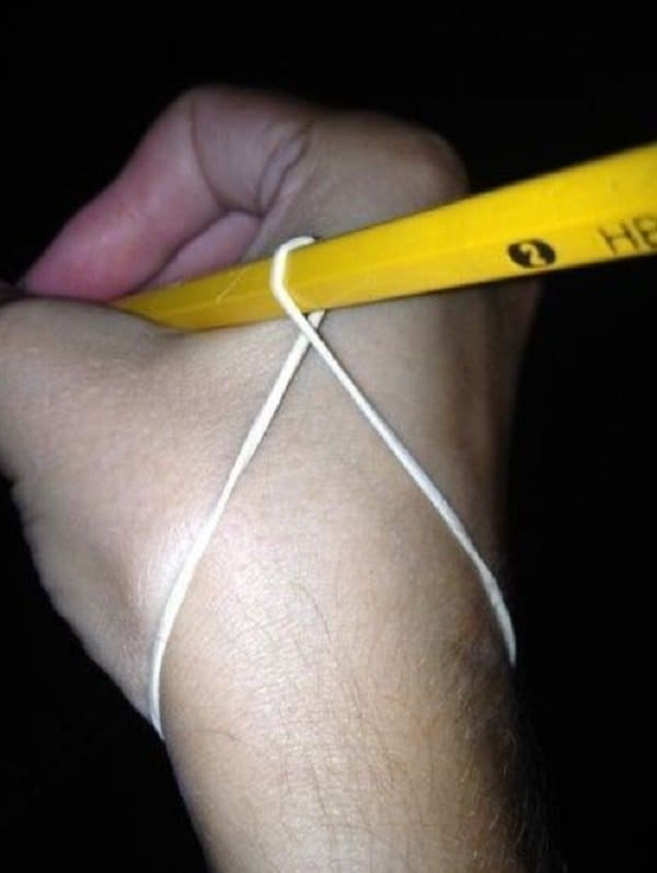 rubber band pencil