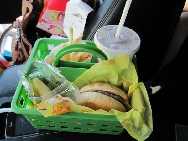 shower caddy car food