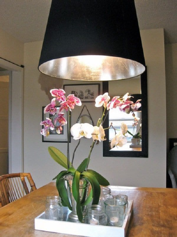 silver leaf lampshade
